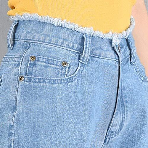 Large Casual Évasée Extensible Mode Femme Élastique Hellblau Élégant Flare Kick Denim Pour Pantalon Jambe FaqnxTTd