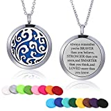 necklace Mtlee Aromatherapy Essential Oil Diffuser Necklace Locket Pendant Stainless Steel Perfume Necklace with 16 Refill Pads and 24 Inch Adjustable Chain (Cloud)