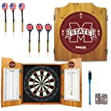 NCAA Mississippi State University Wood Dart Cabinet Set