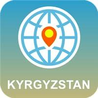 Kirguistán Mapa Desconectado