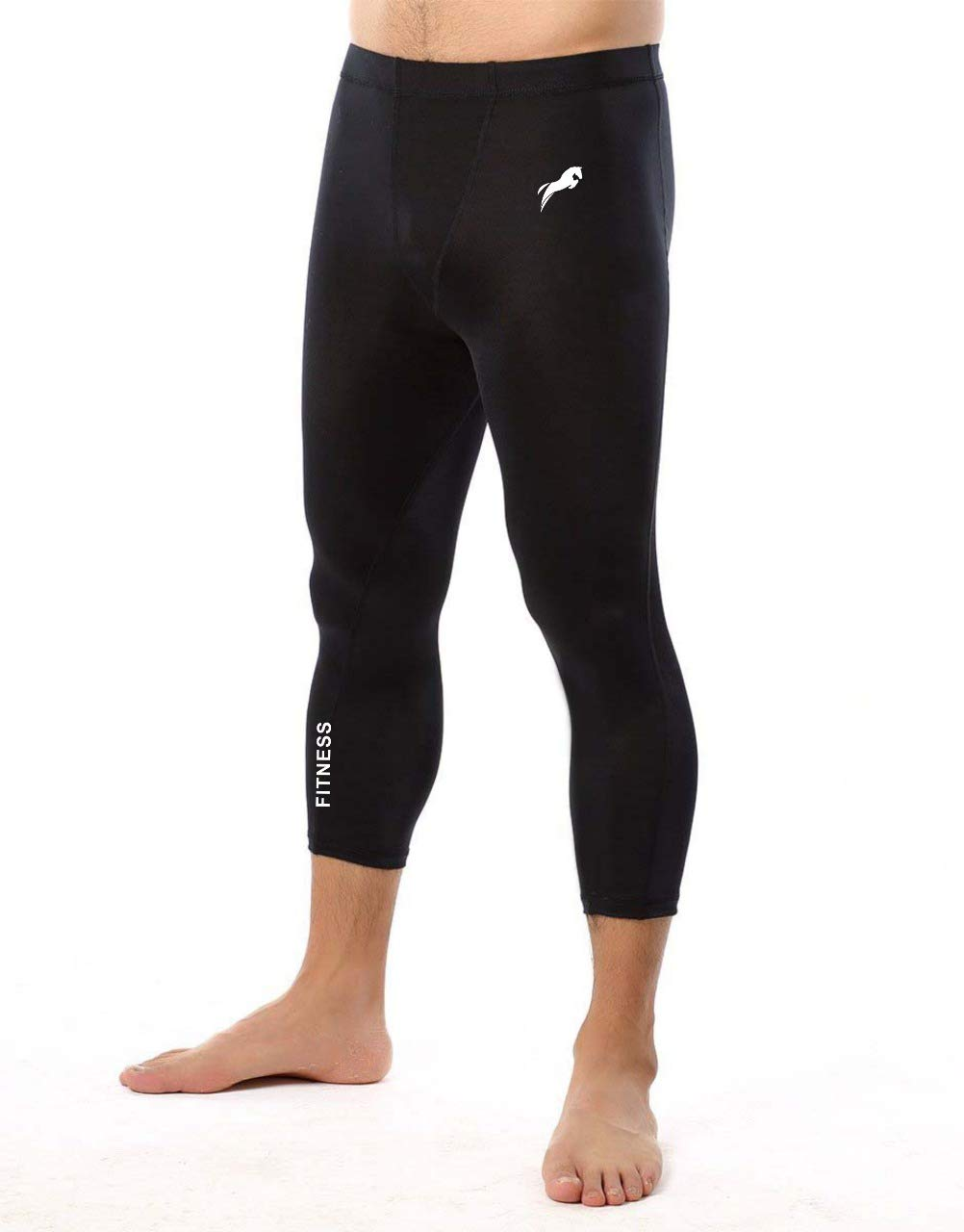Rider 3/4 Men & Women Unisex Capri Length Compression Tights Fitness & Other Outdoor Inner Wear Multi Sports Cycling, Cricket, Football, Badminton, Gym, product image