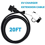 20 FT EV Charging Extension Cable Electric Vehicle Extension Cord Compatible with J1772 Connector(Rated Current 32Amp)