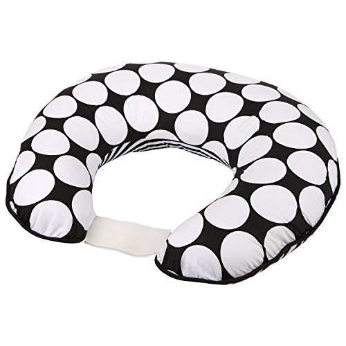 - Bacati - Dots/pin Stripes Black/white Nursing Pillow Cover