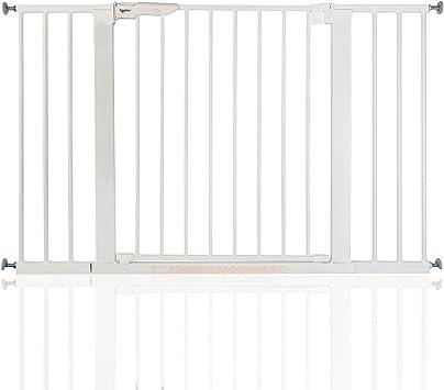 BabyDan Premier Wahre Druck Wei/ß Schutzgitter Treppengitter T/ürschutzgitter Breiten von 73,5-119,3cm