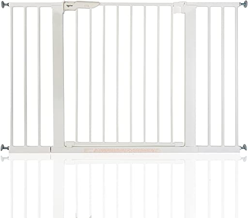 BabyDan Premier - Bebé Puerta de la Escalera Barrera de Seguridad Blanco, 73,5-79,6cm: Amazon.es: Bebé