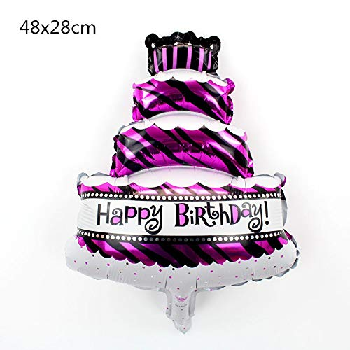 1 piece flamingo Large Cake Happy Birthday Foil Balloons for Baby Birthday Party Decoration Mickey Minnie Inflatable Air Balls Kids Gift -