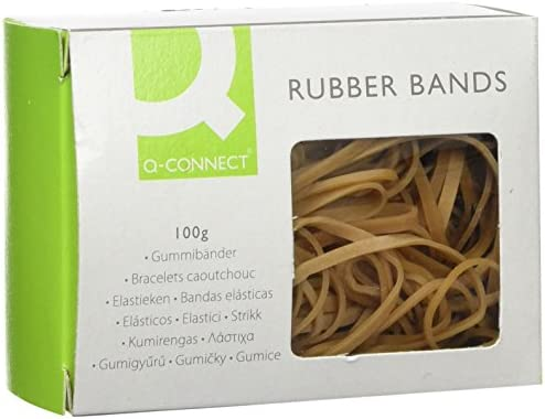 100 g Q Connect Assorted Rubber Bands