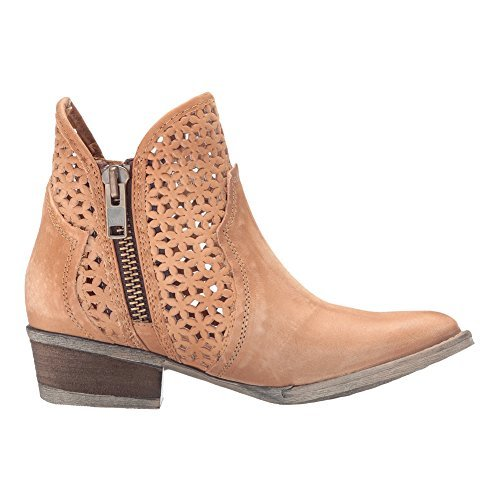 New Corral Womens - New Circle G by Corral Women's Q0002 Ankle Boot Tan 9