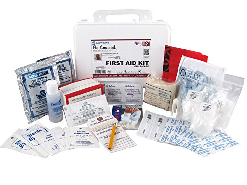 US-Works Saunders Child Care First Aid Kit, 90-Pieces, Serves up to 12 People (67104)