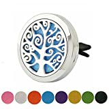 Car Aromatherapy Tree of Life Design Stainless Steel Essential...