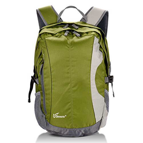 cmarte Multipurpose Large Capacity Durable Outdoor Backpack Adults in Hiking Traveling Camping (Green)