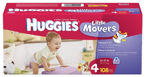 Amazon.com: Huggies Little Movers Diapers, Size 4, 108-Count ...