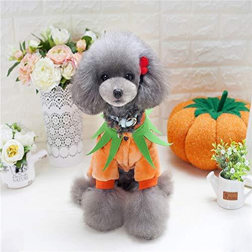 orange L orange L Party Pet Costume Pet Supplies and Winter Warm Clothes Dog Clothes Fleece pet Four feet Clothing (color   orange, Size   S) Pet Uniform (color   orange, Size   L)