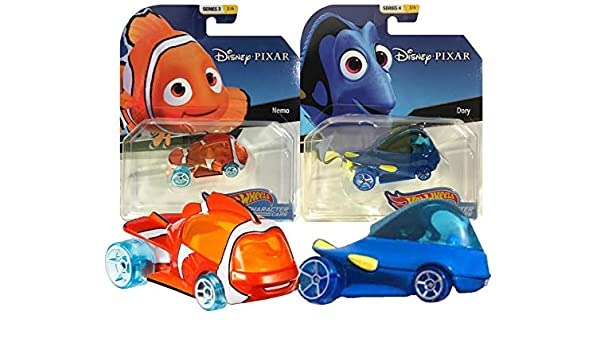 Hot Wheels Disney/Pixar Character Cars Finding Nemo & Dory 2 Pack ...
