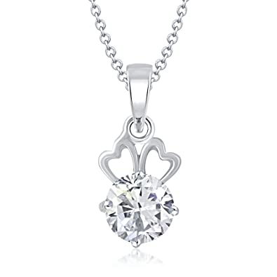 VK Jewels Chain for Women (Silver) (vkp1062r)