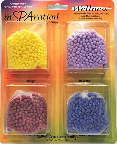 Aromatherapy Beads Spa (inSPAration Aromatherapy Air Bead Assortment Set for Hot Tubs and Walk-In Tub Canisters)