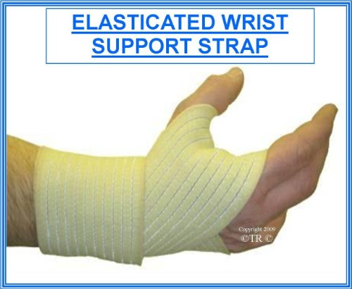 ELASTICATED WRIST SUPPORT WRAP STRAP -