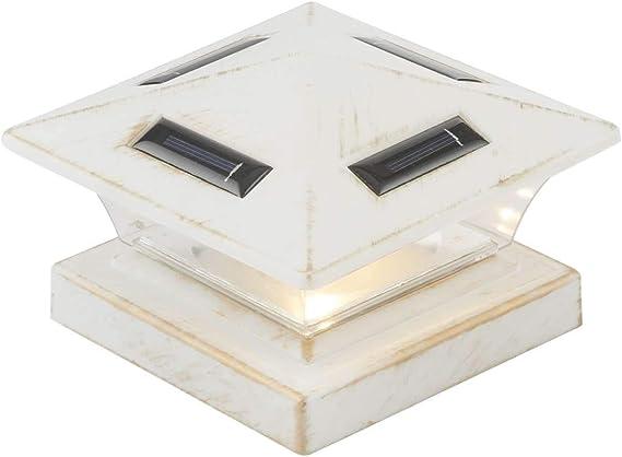 Farol solar para exterior, lámpara solar para jardín, color blanco (lámpara exterior, LED, valla de luz, camino, 15 cm): Amazon.es: Iluminación