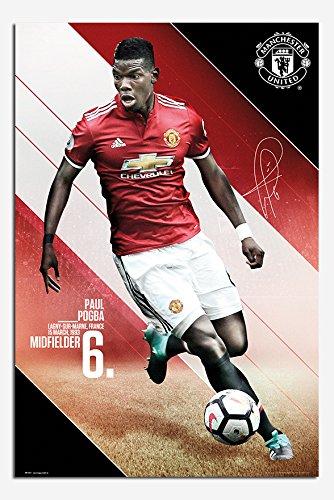Manchester United Pogba 2017 / 2018 Season Poster Satin Matt