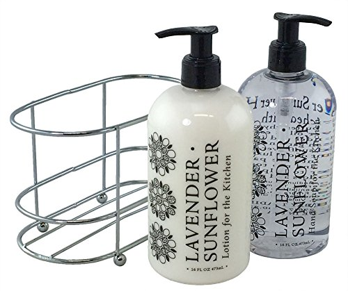 3 Pc Gift Set - Lavender Sunflower Duo in Caddy
