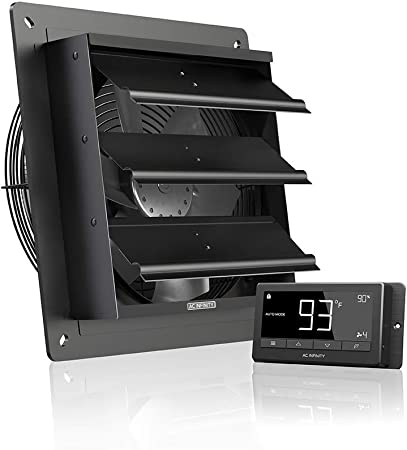 AC Infinity AIRLIFT T10 Shutter Exhaust Fan w/Temperature Humidity Controller