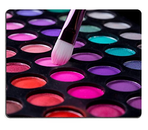 Luxlady Mousepads Colorful eye shadows palette with makeup brush IMAGE 37260800 Customized Art Desktop Laptop Gaming mouse Pad by (Colorful Eyes)