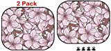 Luxlady Car Sun Shade Protector Block Damaging UV Rays Sunlight Heat for All Vehicles, 2 Pack Image ID: 31051640 Decorative Floral Seamless Pattern with Cherry Blossom