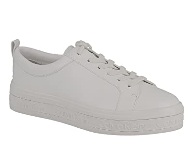 Imilia Nappa Leather, Baskets Basses Femme, Blanc (White), 38 EUCalvin Klein