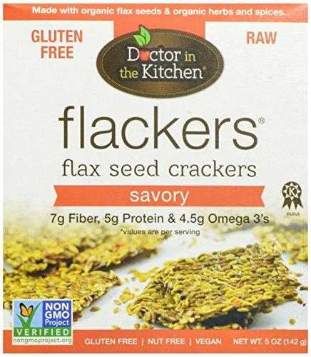 Dans Doctor Les biscuits aux graines de lin Cuisine Flackers, Savory, 5-once