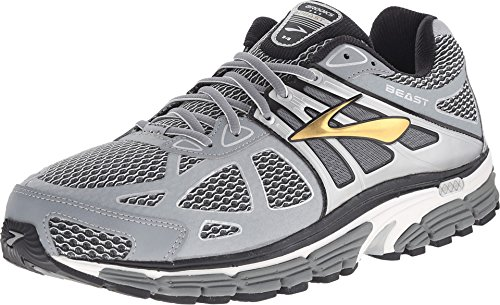 Brooks Men's Beast 14 Silver/Black/Gold Sneaker 9.5 D (M)