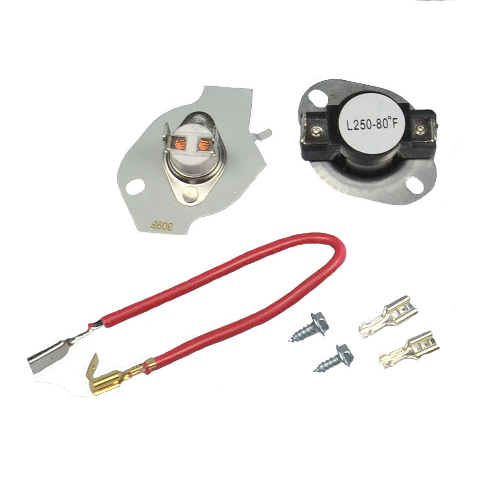 ATMA 279816 Dryer Thermostat Kit Replacement For Whirlpool Kenmore Maytag Roper KitchenAid Dryer Instructions Included Replaces 3399848 3977393 AP3094244 PS334299