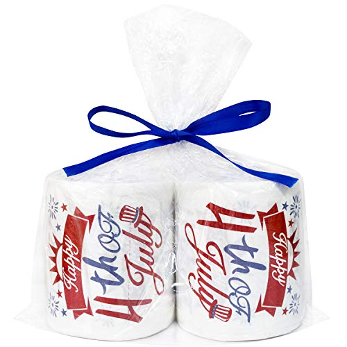 4th of July Toilet Paper Roll Decorations - Fourth of July Decoration Patriotic Party Supplies - Funny Toilet Paper Towels Gag Gift/Bathroom Decor/Table Decor -