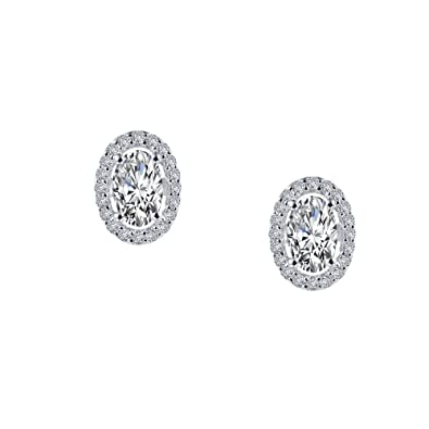 c40a2edaf Image Unavailable. Image not available for. Color: Lafonn Classic Simulated Diamond  Earrings, Platinum-Plated
