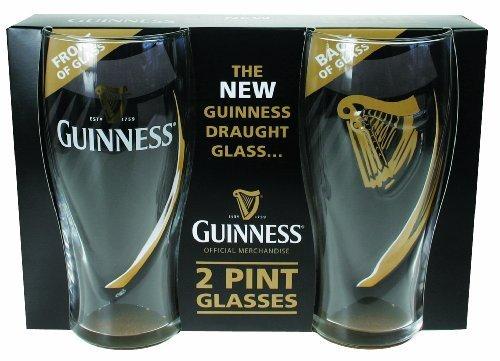 Guinness Gravity Pint Glass (2 Pack) (Best Glass For Stout)