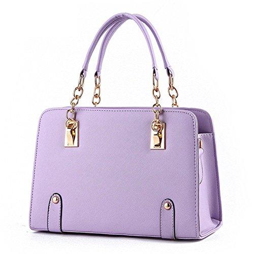 New QCKJ-Lorenz-Borsa a tracolla da donna in ecopelle, colore: viola