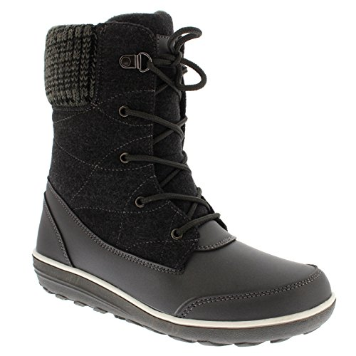 Polar Produkte Damen Schnee Ente Winter Durable Thermal Wasserdichte Stiefeletten Grau