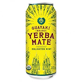 Guayaki Yerba Mate - Enlighten Mint - 16oz.(Pack of 16) 4 16 Pack - 16oz. cans Organic Fair Trade