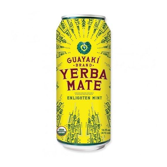 Guayaki yerba mate - enlighten mint - 16oz. (pack of 16) 1 16 pack - 16oz. Cans organic fair trade