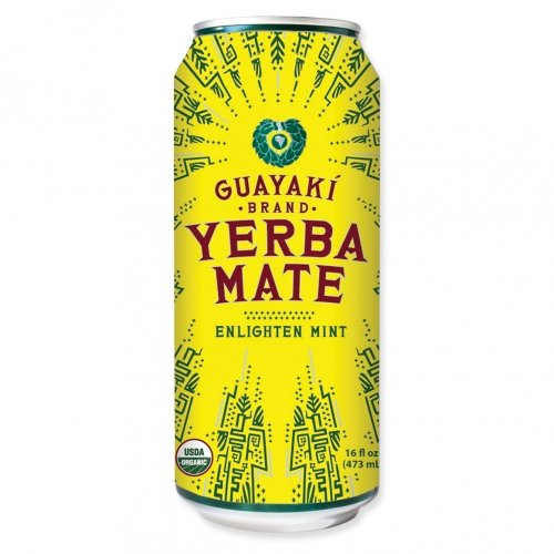 Yerba Mate Mint (Guayaki Yerba Mate - Enlighten Mint - 16oz. (Pack of 8))