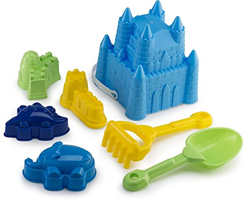 Castle Bucket Tool Set 7 Pcs with Animal Molds |7