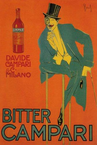 Bitter Campari Davide Milano Italy Italia Italian Large Vintage Poster Repro