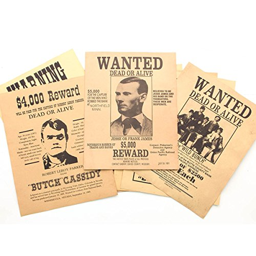 Old West Wanted Posters 12 Sheet ()