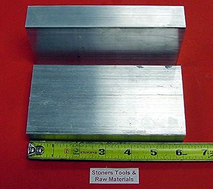 """4 Pieces 2-1//2/""""x 4/"""" ALUMINUM 6061 FLAT BAR 8/"""" Long T6511 Temper Mill Stock 2.5/"""""""