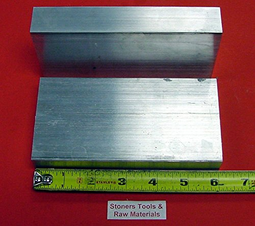 2 Pieces 1-1/4″ X 4″ ALUMINUM 6061 FLAT BAR 6″ long 1.250 Solid Plate Mill Stock