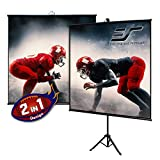Elite Screens Tripod Lite Wall Series | 2 in 1 Portable Projector Screen Dual Tripod Stand/Wall Mount Indoor/Outdoor 65-INCH, 1:1 w/Carrying Bag | T65SW, MaxWhite