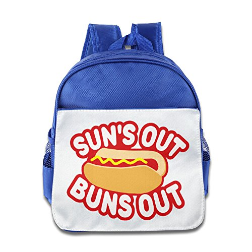 Price comparison product image OurLove Suns Out Buns Out Children Bookbag Backpack Outdoor Size Size Key RoyalBlue