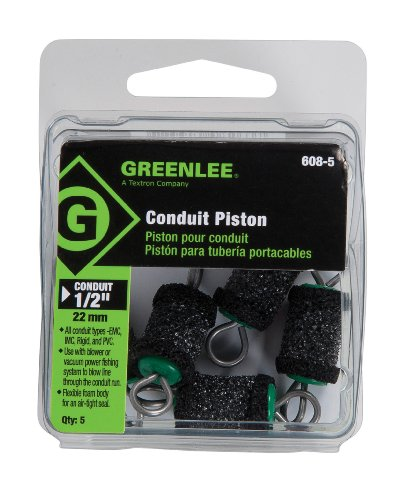"""Greenlee 608-5 Piston For 1/2"""" Conduit, All Types, 5 Pack"""