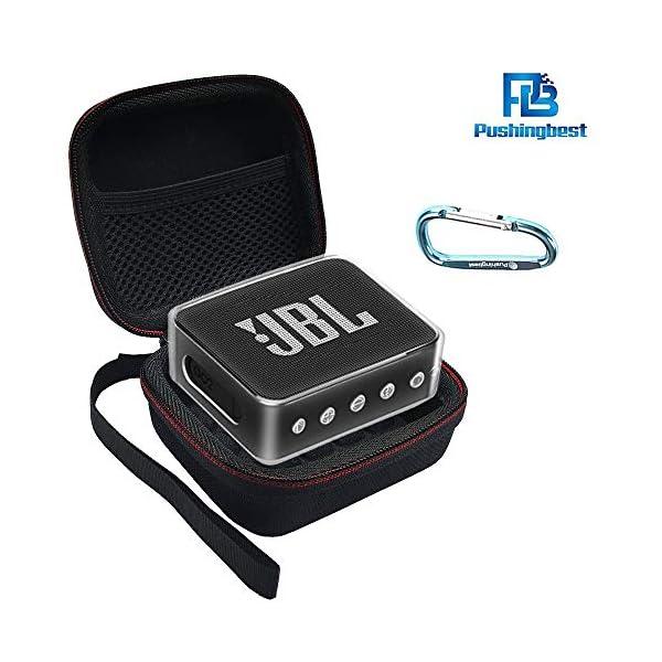 Pushingbest Coque pour JBL Go 2, 2 avec Eva et TPU pour Votre Haut-Parleur JBL Go 2 Bluetooth 1