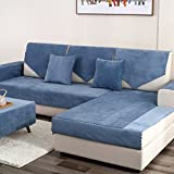 DW&HX Waterproof Anti-Slip Sofa Cover, Pets Dog Sectional Couch Water Resistant Stain Resistant Multi-Size Sofa Covers Slipcover Furniture Protector -Sold by Piece-Navy 43x43inch(110x110cm)