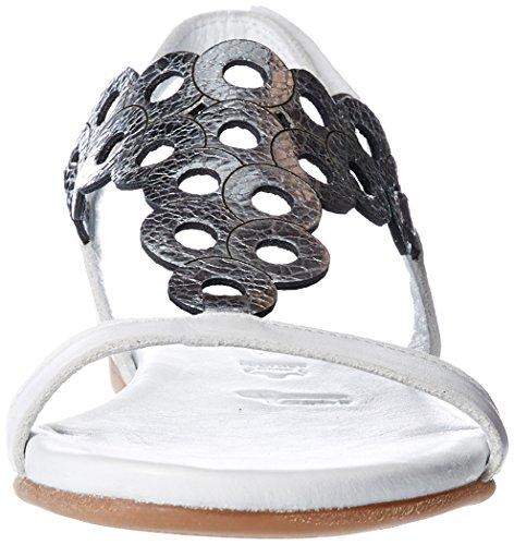 Hvit Hvit 28102 Sølv 28 Tamaris Skinn Sandal adwSqq4